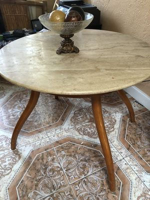 Marble top wood table for Sale in Miramar, FL