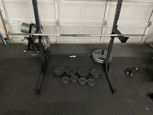 Barbell with standard weight for Sale in Tracy, CA