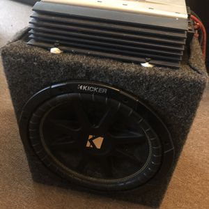 """12"""" Kicker Comp Sub w/ Amp for Sale in New Holland, PA"""