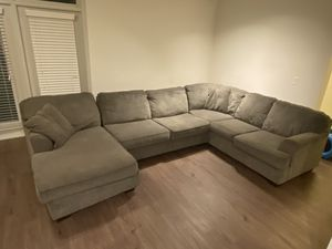 Large Grey Sectional Couch for Sale in Atlanta, GA