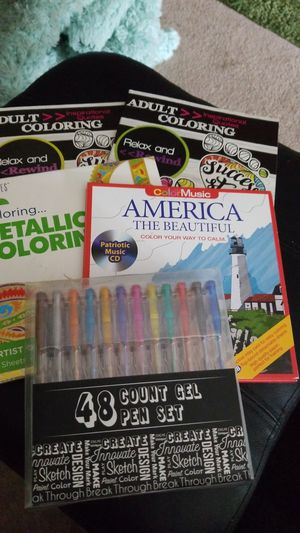 Adult coloring books,&gel pens for Sale in Saint Paul, MN