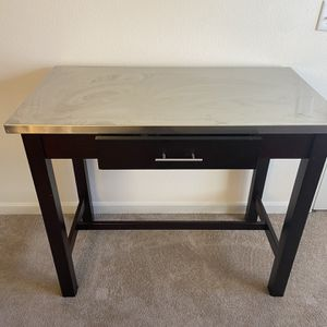 Table Cherrywood And Stainless Steel for Sale in Everett, WA