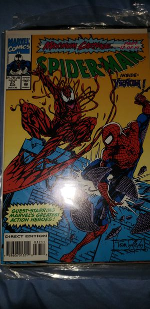 Marvel Comics Spiderman #37 Maximum Carnage for Sale in Chicago, IL