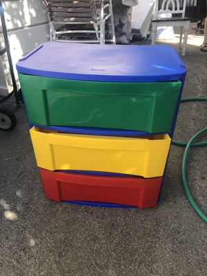 3 drawers plastic storage for Sale in Inglewood, CA