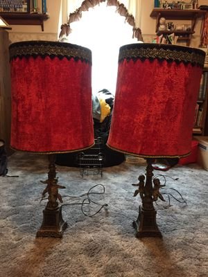 Antique pair of table lamps for Sale in Parma Heights, OH