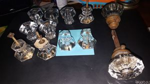 Antique Glass Drawer Pulls and Door Knob for Sale in South Euclid, OH
