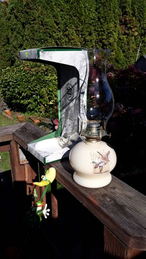 Decorative Wildlife Design Oil Lamp with Box for Sale in Sumner, WA