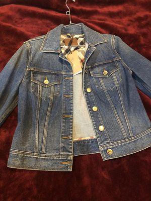 Burberry gold button denim jacket for Sale in Huntington Park, CA