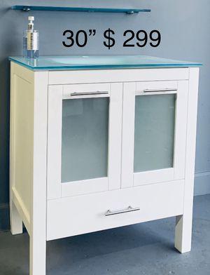 "SOLID WOOD BATHROOM VANITY 30"" MIRROR INCLUDED for Sale in Lauderhill, FL"