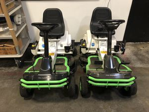 2-Wei Bang Electric riding lawn mowers. for Sale in Farmers Branch, TX