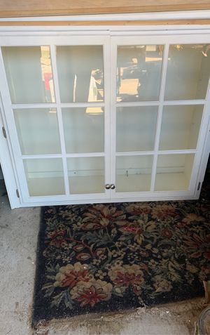 Upper Glass Cabinet for Sale in Benton, AR