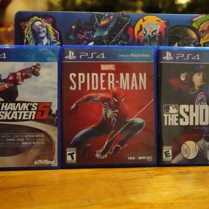 Spider-Man, MLB The Show 20, & Tony Hawk 5 - PS4 for Sale in The Bronx, NY