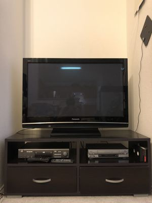 """47"""" Panasonic HD Television and TV stand for Sale in Lucas, TX"""