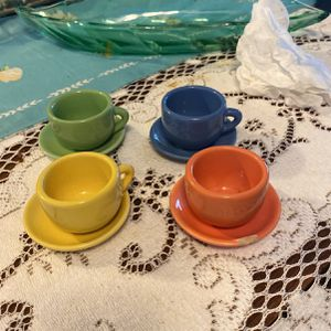 Vintage 4 Sets Of Mini Cup/saucer for Sale in Tustin, CA