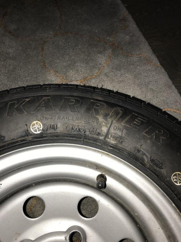 Trailer Rim and Tire