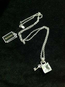 """Jewelry """"Stone Padlock & Key"""" Long Necklace Juicy Couture for Sale in Orange,  CA"""