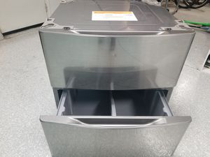 "Like NEW! LG - 29"" Washer and Dryer Pedestals with Storage Drawer - Graphite Steel for Sale in San Juan Capistrano, CA"