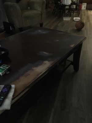 Solid oak wood coffee table or Tv stand for Sale in Lynchburg, VA