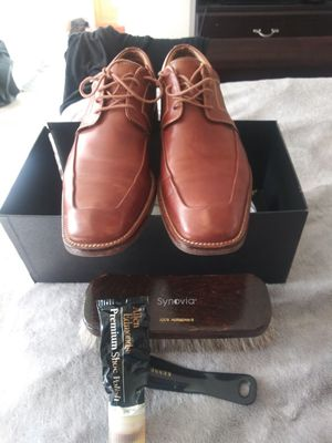MEN'S SIZE (8.5) **NORDSTROM EXCLUSIVE BRAND** GORDON RUSH ALL LEATHER (COGNAC) DRESS SHOE for Sale in San Leandro, CA