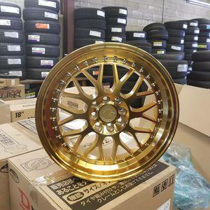 17x8 4x100/4x114.3 aodhan gold RIMS for Sale in Sacramento, CA