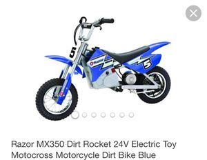 Razor MX350 bike and Ezip 450 electric scooter for Sale in North Potomac, MD