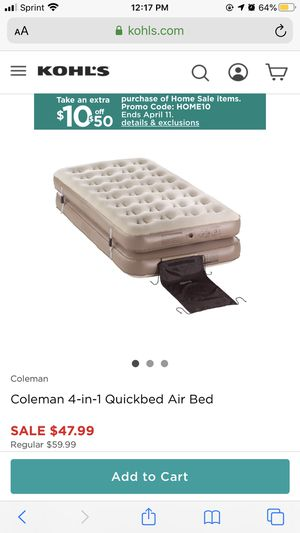 Coleman 4-in-1 Quickbed Air Bed - Air Mattress for Sale in Lake Worth, FL