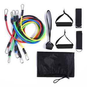 11 PCS Resistance Band Set Yoga Pilates Abs Exercise Fitness Tube Workout Bands for Sale in Kent, OH