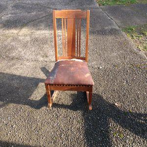 Antique Oak Sewing Rocking Chair for Sale in Aberdeen, WA
