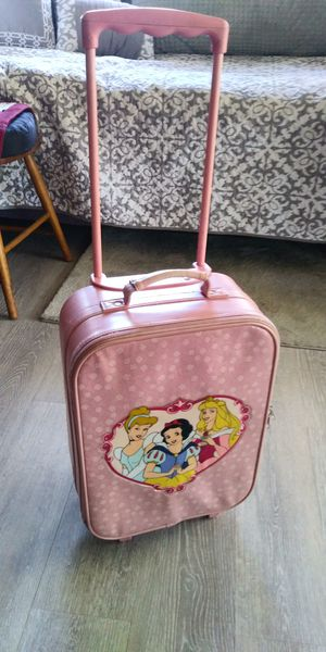 Disney Princesses Suitcase on Wheels for Sale in Fresno, CA