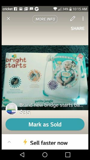 Brand new bright starts baby swing for Sale in Denver, CO