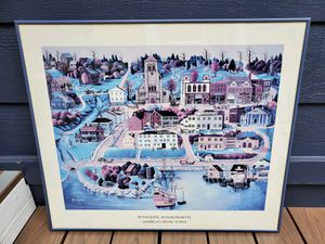 Vintage framed print of Plymouth, Massachusetts for Sale in Tacoma, WA