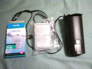 Tetra whisper 10i aquarium fish tank 10 gallon hang on filter and new box cartridges for Sale in Miami, FL