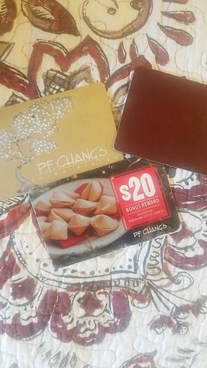 $80 in pf chang cards for $60 firm for Sale in Indianapolis, IN