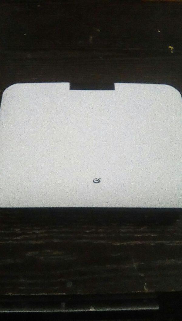 Portable DVD player.