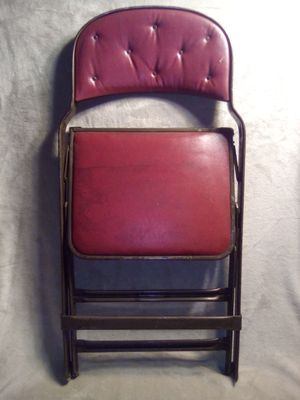 Antique clarin folding metal chair for Sale in Pittsburgh, PA
