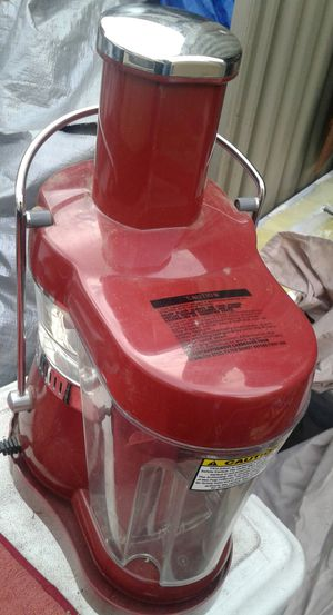 Fusion Juicer Machine Fruit Vegetable Juice Extractor Quiet Motor 3000rpm Red for Sale in Isleton, CA