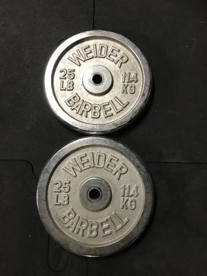 Standard weights (2x25s) for $30 Firm!!! for Sale in Sun Valley, CA