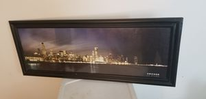 Framed chicago skyline for Sale in Bourbonnais, IL