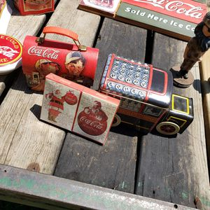 Coke cola tins and more for Sale in Cumberland, VA