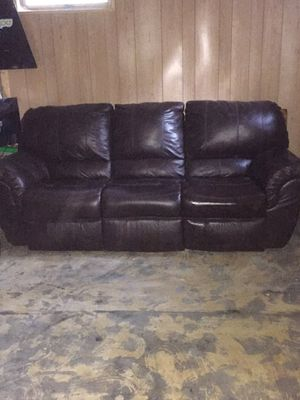 Brown Leather Sofa for Sale in Grand Rapids, MN