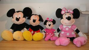 4 Disney Mickey Minnie Mouse Jumbo Large and Small Dolls Stuffed Animals for Sale in Tempe, AZ
