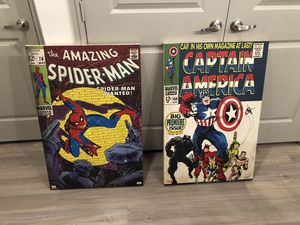 Captain America / SpiderMan Wall Decor for Sale in Irving, TX
