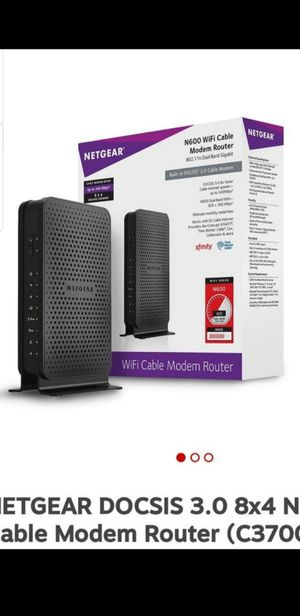 NETGEAR DOCSIS 3.0 8x4 N600 WiFi Cable Modem Router (C3700) for Sale in New Haven, CT