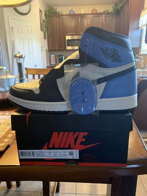"""NIKE AIR JORDAN 1 """" OBSIDIAN • UNC """" 100% AUTHENTIC WITH RECEIPT, $210, SIZE 11 for Sale in Spring, TX"""