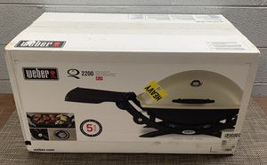 Weber Q 2200 Gas Grill Propane Table Top 1-Burner Portable Tailgate Outdoor BBQ - Brand New for Sale in Park Ridge, IL