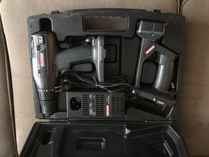 Craftsman Cordless Drill and Worklight (case included) - NO BATTERIES for Sale in Darnestown, MD