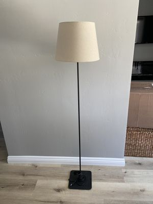 Floor lamp with khaki shade for Sale in Encinitas, CA
