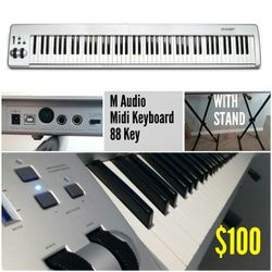 M-Audio Keystation 88es - MIDI controller - WITH STAND - USB - 88-key for Sale in West Valley City,  UT