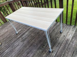 """Table IKEA Linnmon Table, white white stained oak effect/white 59x29 1/2 """" for Sale in District Heights, MD"""