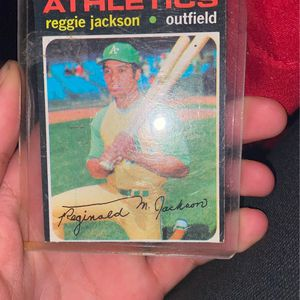 Reggie Jackson Baseball Card Signed for Sale in Clermont, FL